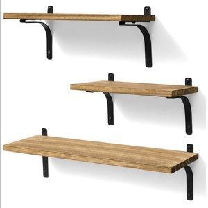 🎀Set of 3 Solid Wood Floating Shelves 🎀